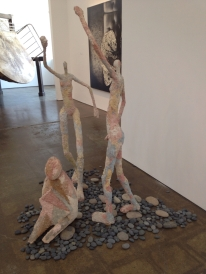 3 Figures at HVCCA, Cement over foam and metal
